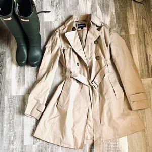Express Tan Trench Jacket